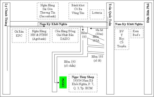 Bản đồ đường đi đến Ngọc Thúy Shop