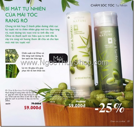 Olive & Bamboo Fortifying Shampoo 18478 & Conditioner - 18479