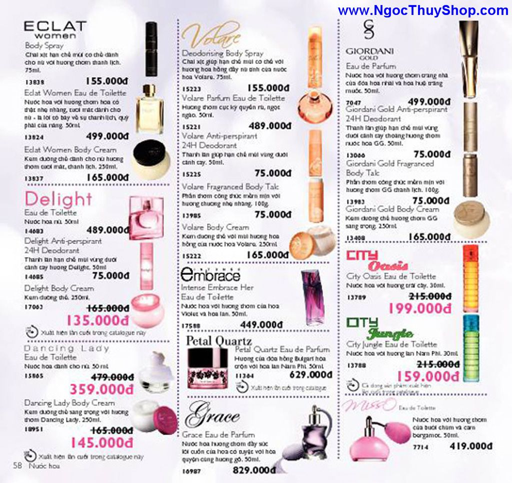 catalogue my pham oriflame 8 2011 058 Catalogue Oriflame tháng 8/2011 – MyPhamOriflame.vn
