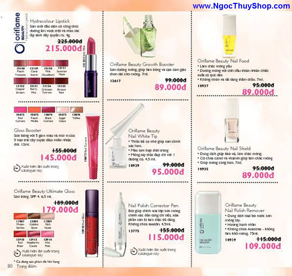 catalogue my pham oriflame 8 2011 080 Catalogue Oriflame tháng 8/2011 – MyPhamOriflame.vn