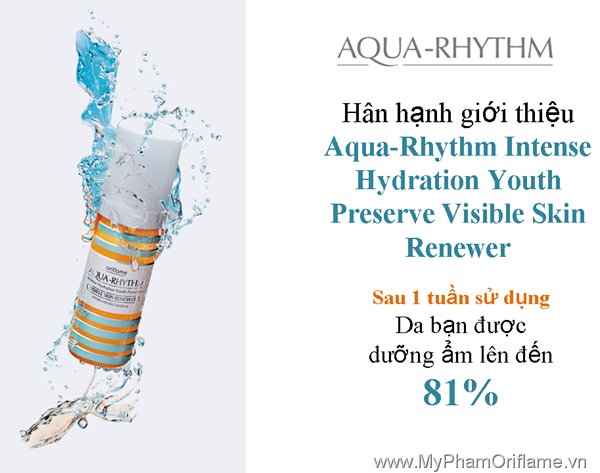 Oriflame Aqua-Rhythm Intense Hydration Youth Preserve Visible Skin Renewer