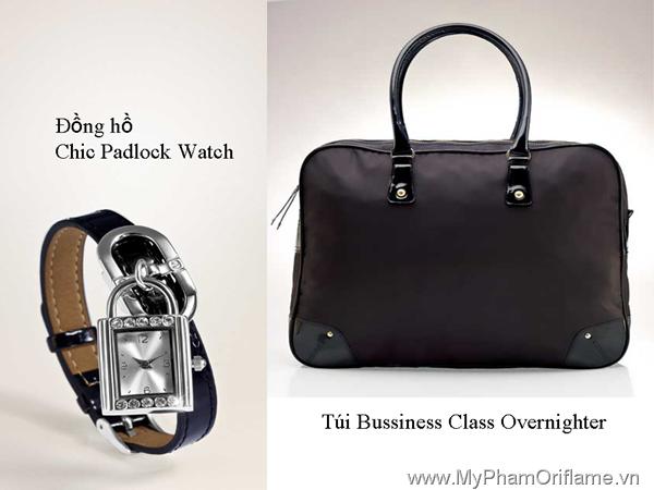 Đồng hồ Chic Padlock Watch & Túi Bussiness Class Overnighter