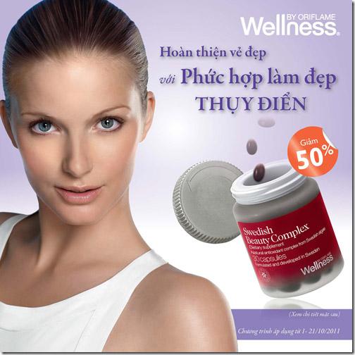 Oriflame 10-2011: Giảm giá 50% Swedish Beauty Complex khi mua Natural Balance Shake
