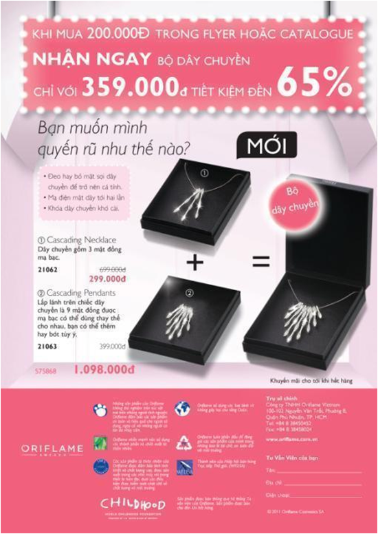 Click để xem chi tiết Tờ rơi giảm giá Oriflame 11/2011
