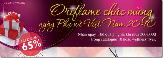 Oriflame khuyến mãi nhân ngày Phụ Nữ Việt Nam 20/10