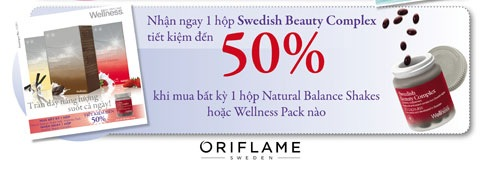 Oriflame có chương trình khuyến mãi sản phẩm Wellness 12-2011
