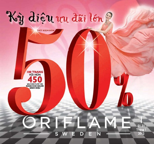 Catalogue Oriflame 1-2012: Kỳ Diệu Ưu Đãi Lớn 50%