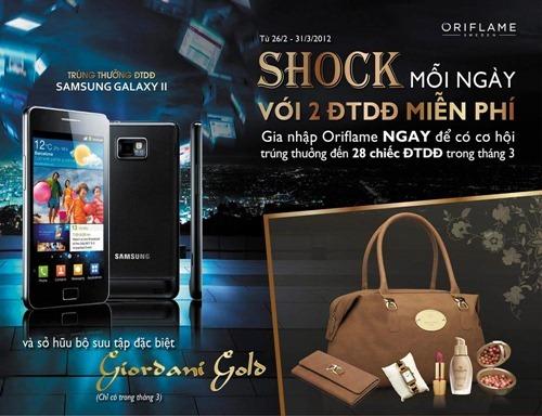 Cơ hội nhận Samsung Galaxy S2 miễn phí từ Oriflame