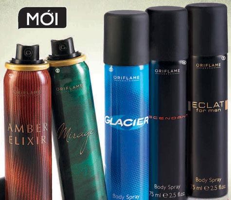 Oriflame giới thiệu nhiều sản phẩm xịt khử mùi nam trong tháng 6-2012