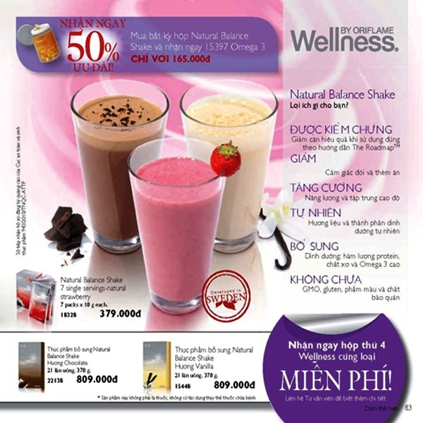Oriflame 7-2012 - Giam Gia Wellness 1