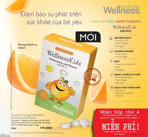 Thực phẩm bổ sung dinh dưỡng Oriflame Wellness Kids Multivitamins and Minerals (22465)