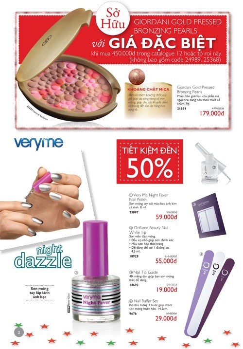 Tờ rơi khuyến mãi Oriflame Bazaar Flyer 12-2012
